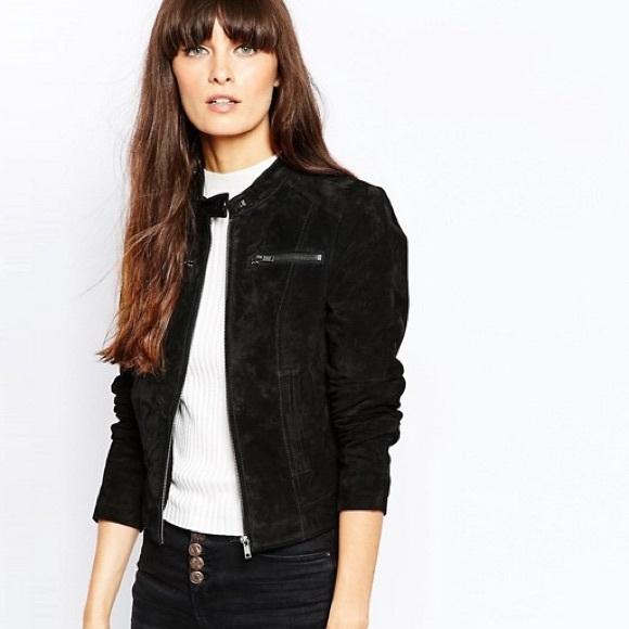 826fee1f791d Vero Moda real leather suede moto jacket. M 5adf5641a4c485e4adbd51e4